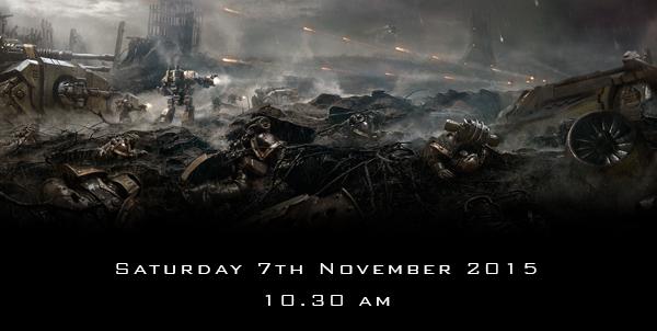 Saturday 7th November 2015 - 10.30am