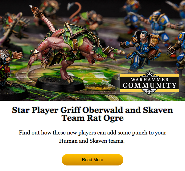 Read more about Griff Oberwald and Skaven Team Rat Ogre