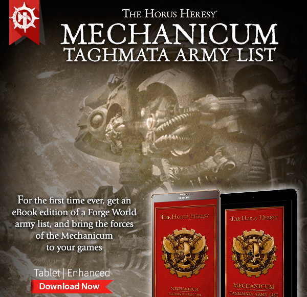 Mechanicum Taghmata Army List Digital Edition