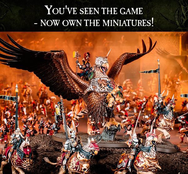 You've seen the game - now own the miniatures! Click here to see them all.