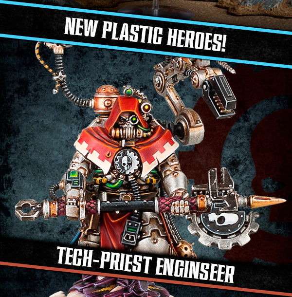 """New plastic heroes!  Tech-priest Enginseer"""