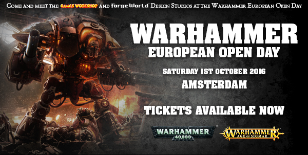 Warhammer European Open Day Ticket