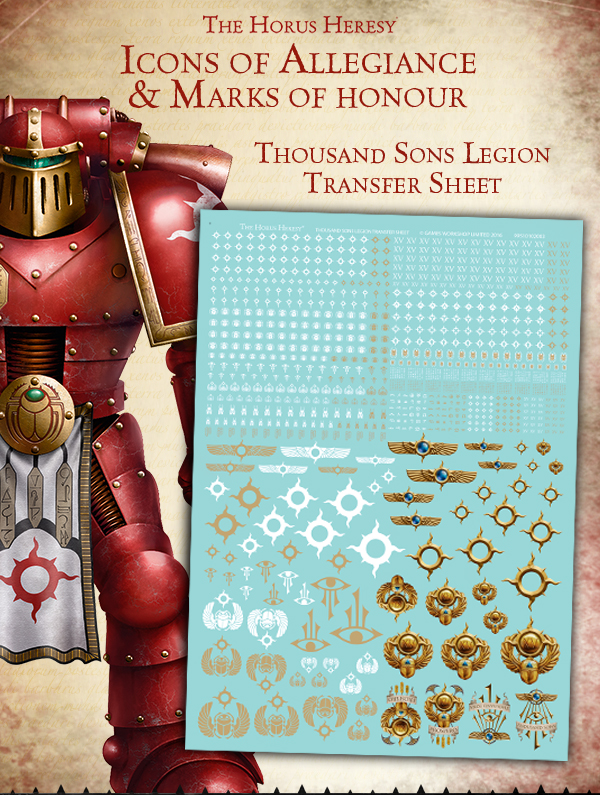 Thousand Sons Legion Transfer Sheet