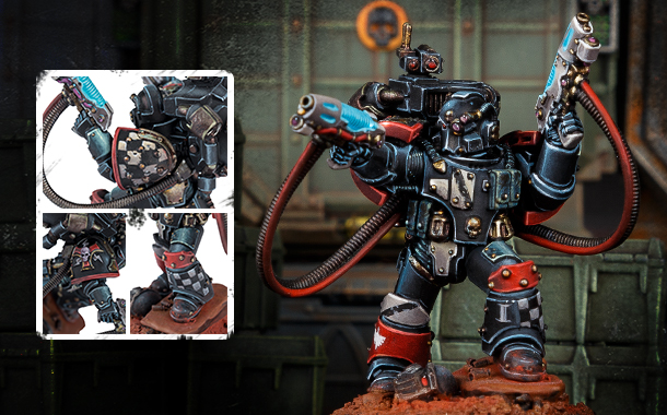 Legion Moritat with plasma Pistols