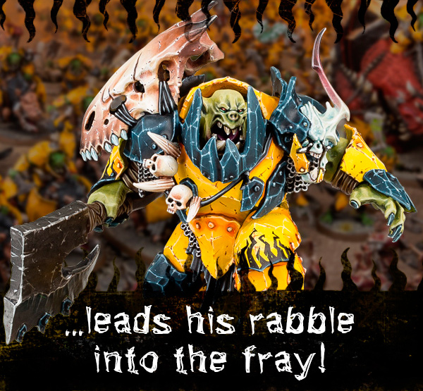 ...leads his rabble into the fray!