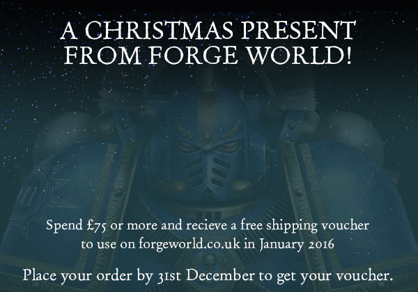 Forge World free shipping voucher