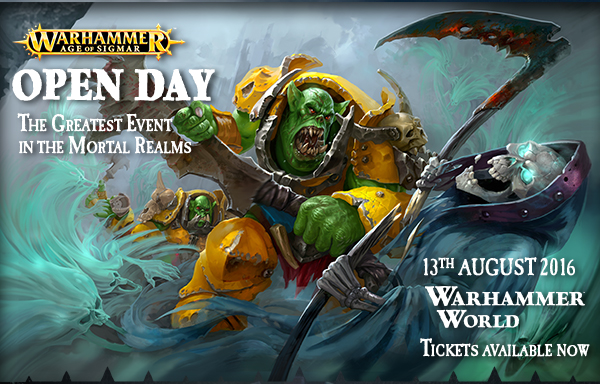 Warhammer Open Day Ticket 2016