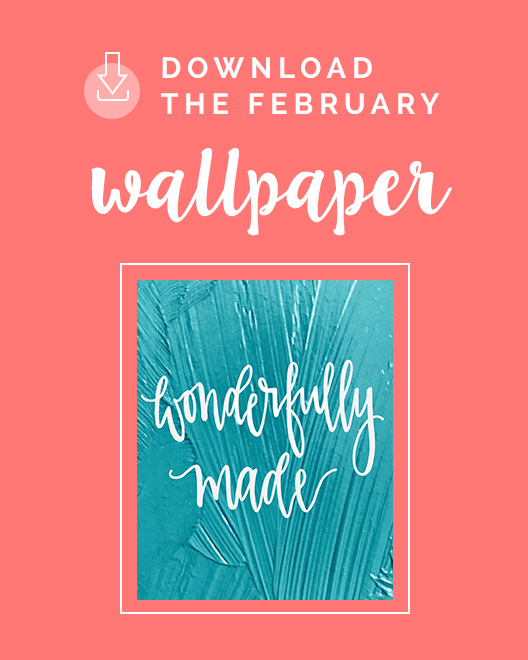 February Downloadable Phone Wallpaper