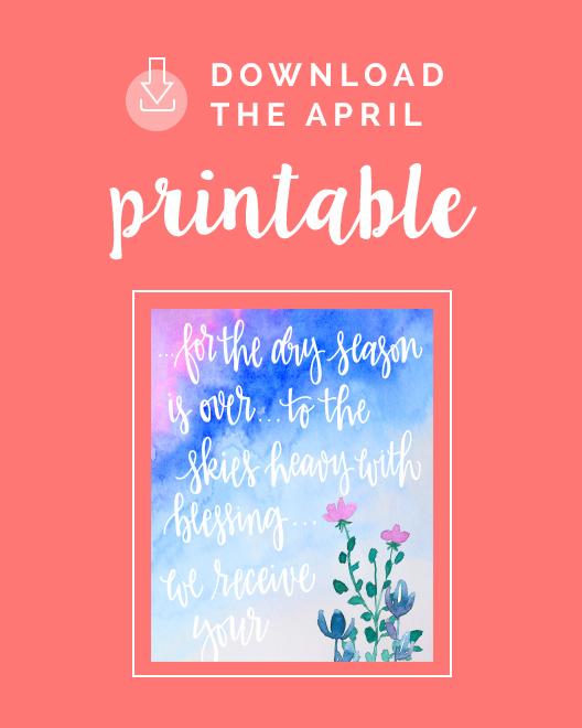 Download the April Printable
