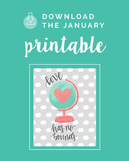 January Printable