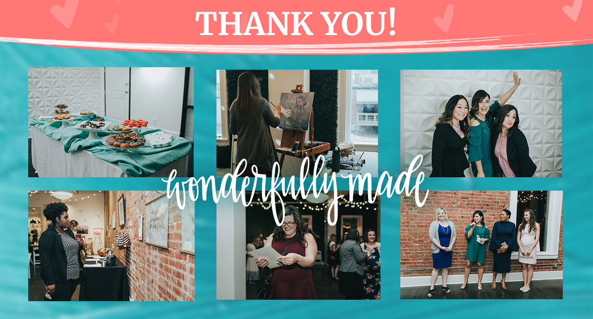 Thank you for your support at the Wonderfully Made Live Event!