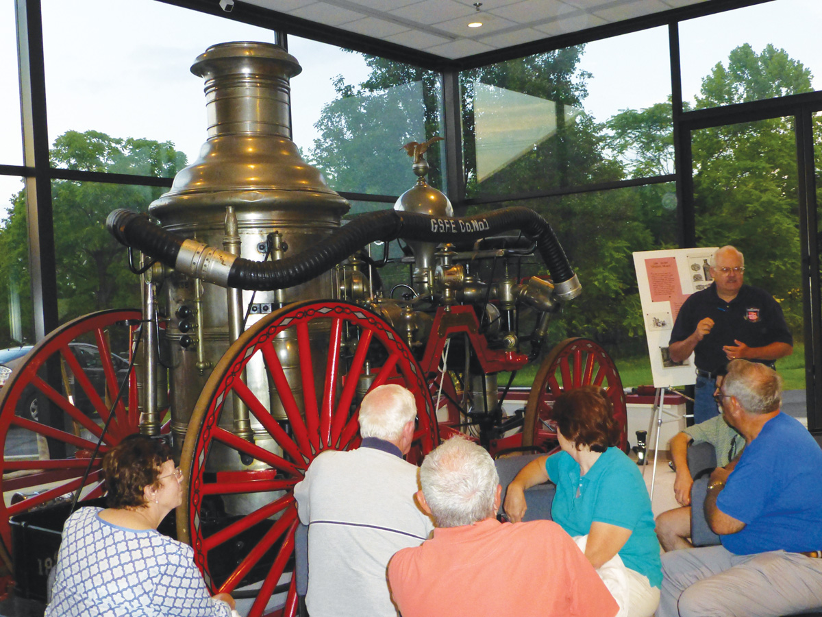 The Silsby steam fire engine