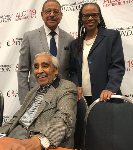 Dr. Washington with Representative Sanford Bishop (D-GA 02); Former Representative Charles Rangel (D-NY 13)