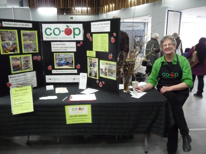 Co-op volunteer, Maureen Zeimer, at 2019 Seedy Saturday