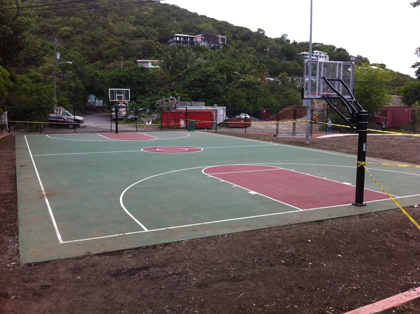 st john basketball court and playground