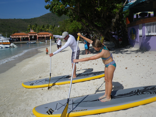 paddleboarding on st john