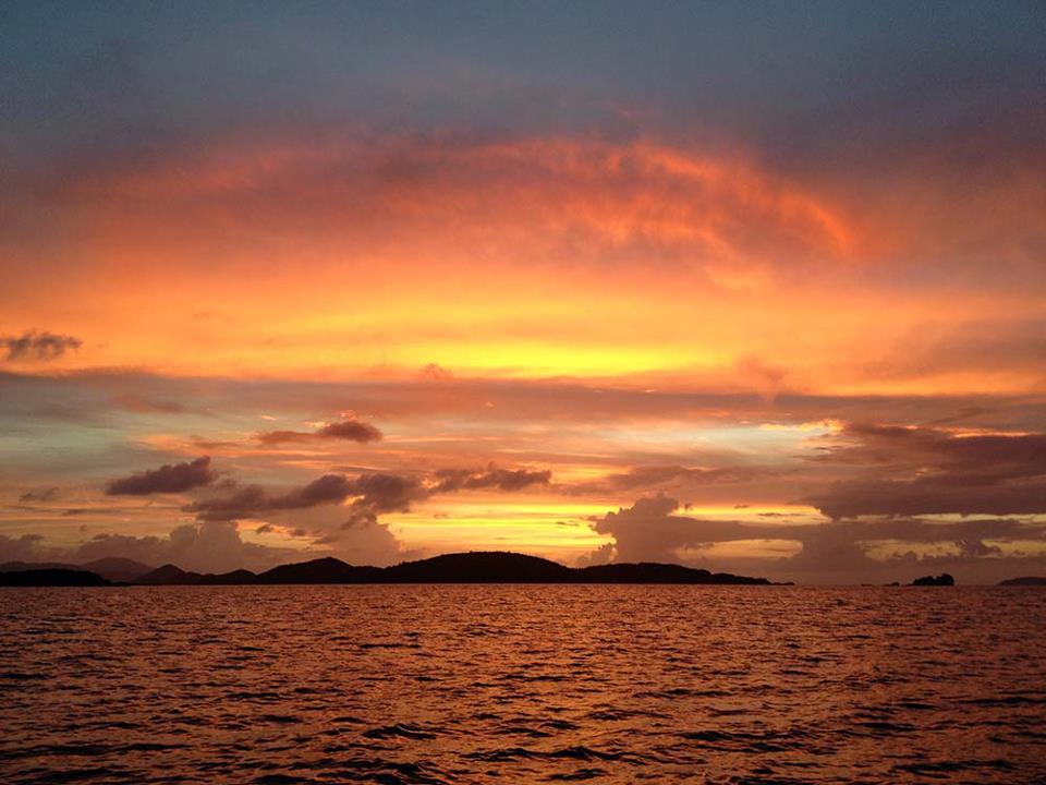 st john summer sunset photo steve simonsen