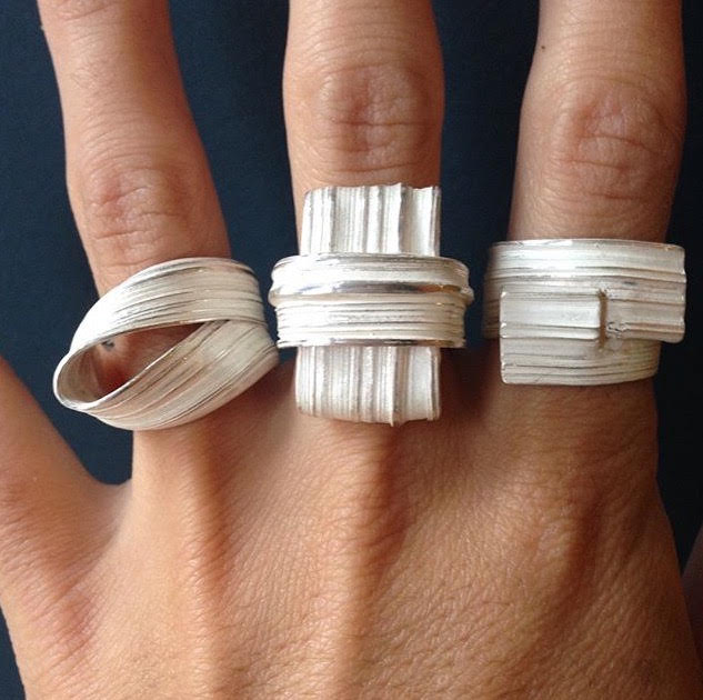 Marion Lebouteiller - Absolu rings - recycled sterling silver