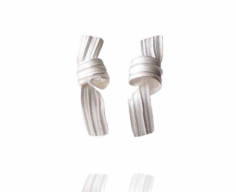 Marion Lebouteiller - Absolu drop earrings - recycled sterling silver.
