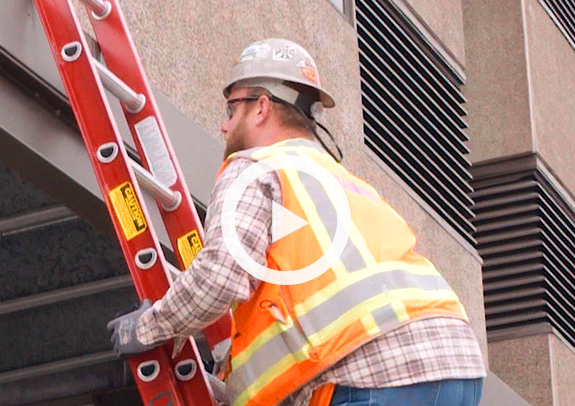 "For Ladder Safety Month, learn the ""belt buckle rule"" and other tips."