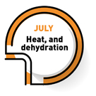 JULY   Heat, and dehydration