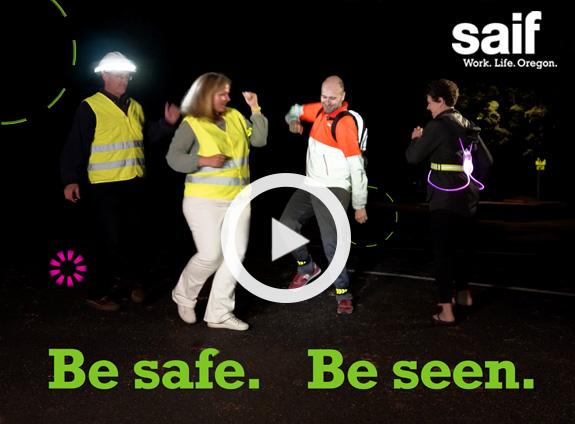 New SAIF video shines a spotlight on pedestrian safety.