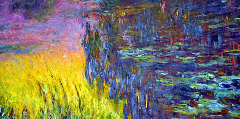Photo of Monet painting with multiple colours