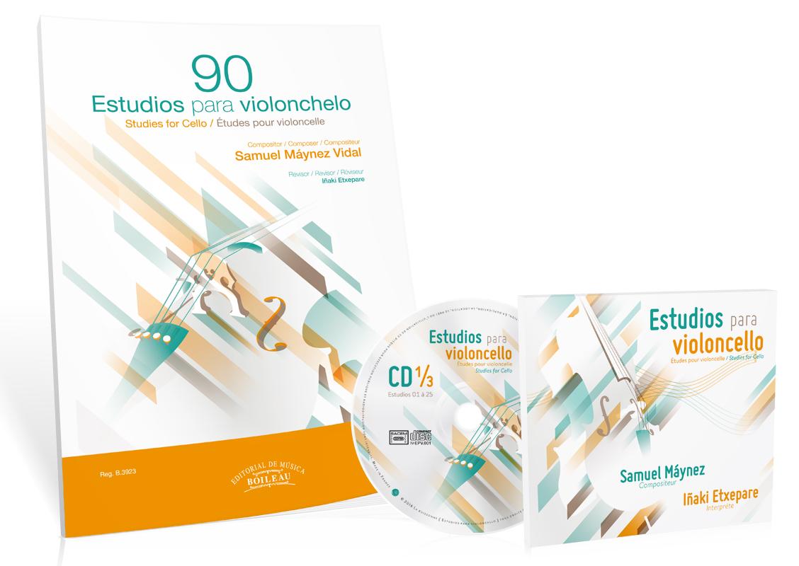Imagen portada 90 estudios para violonchelo