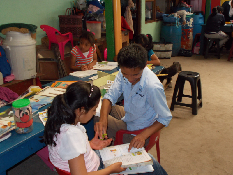 Santos works with Melissa at the Family Support Center