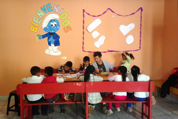 Santos' class at the Family Support Center