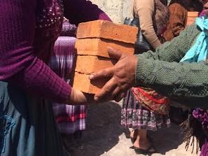 Passing bricks down the line