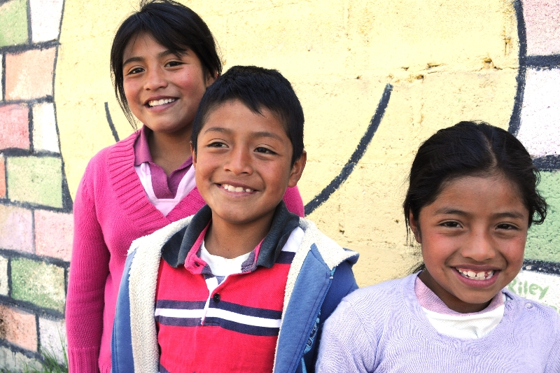 Lesly, Arturo, and Evelyn from the Family Support Center