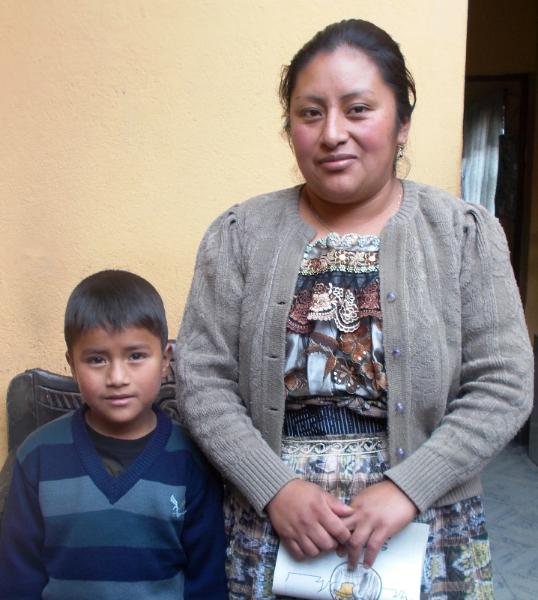 Doña Sebatiana and her son