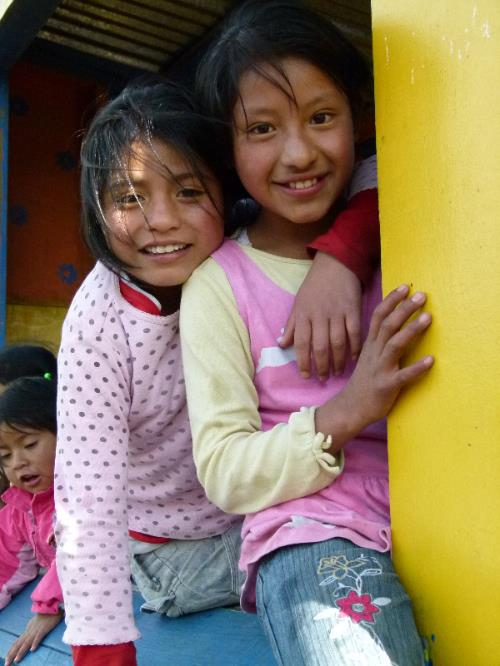 Lesly and Norma at the Family Support Center.  Photo by Allison Smith