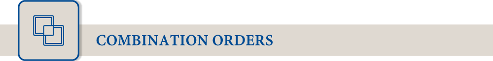 ombination Orders