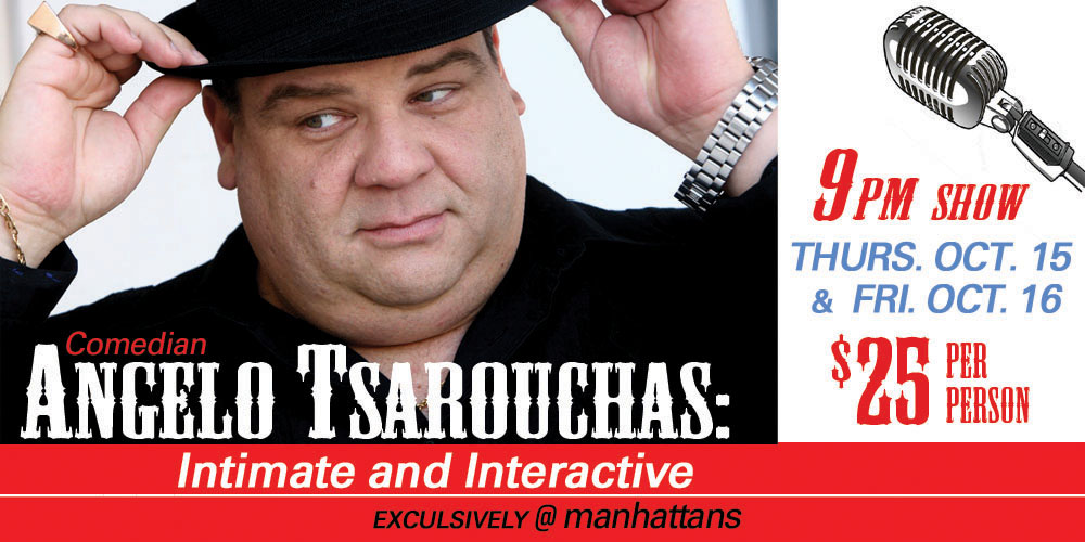 Comedian Angelo Tsarouchas: Intimate and Interactive