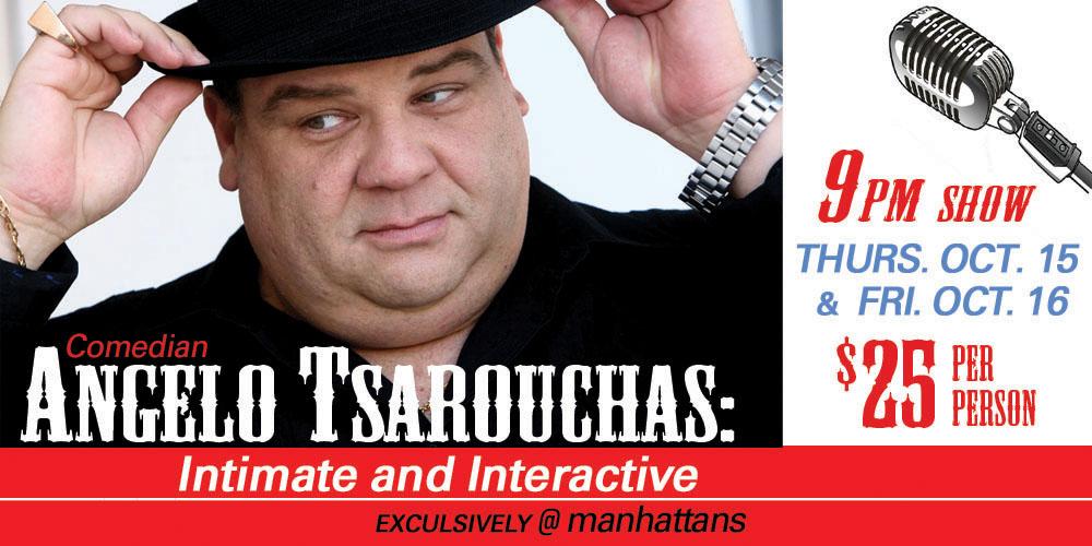 Comedian Angelo Tsarouchas: Intimate and Interactive