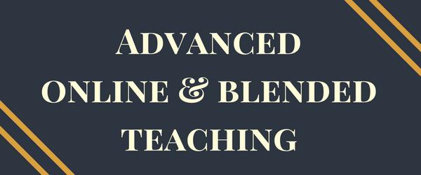Advanced Online and Blended Teaching Certificate Program Logo