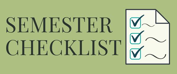 Decorative Image: Semester Checklist