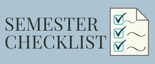 Beginning of Semester Checklist Banner