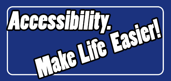Accessibility Banner - Make Life Easier