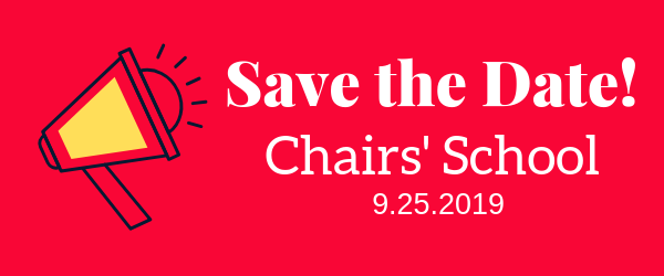 Decorative Image: Save the Date! Chairs' School. 9.25.2019