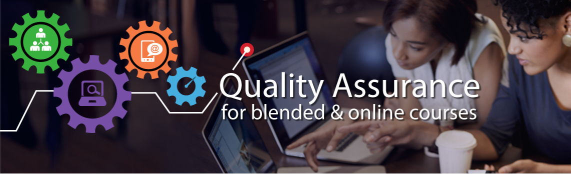 Decorative Image: Quality Assurance for blended and online courses