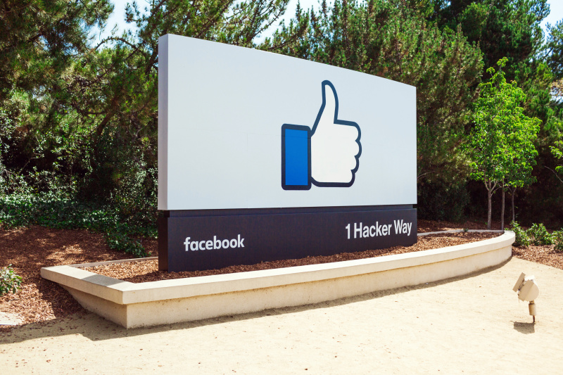 Facebook main campus entrance
