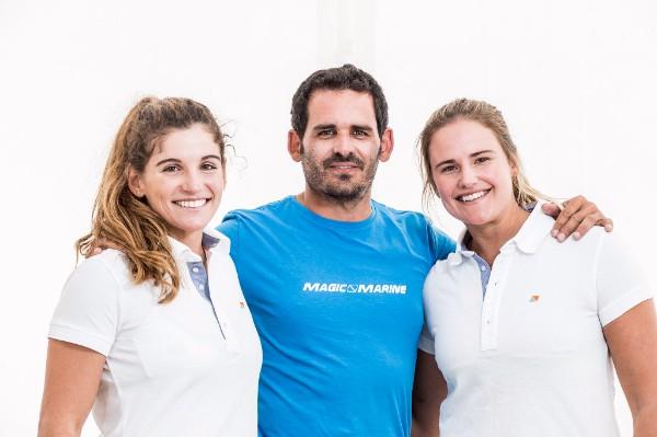 Photo Sailing Energy - Martine Grael, Javier Torres del Moral & Kahena Kunze.