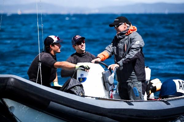 Sailors Klaus Lange & Yago Lange and coachMiguel Saubidet
