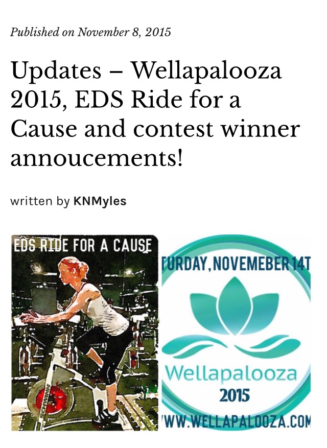 Updates - Wellapalooza 2015, EDS Ride for a Cause and contest winner annoucements!