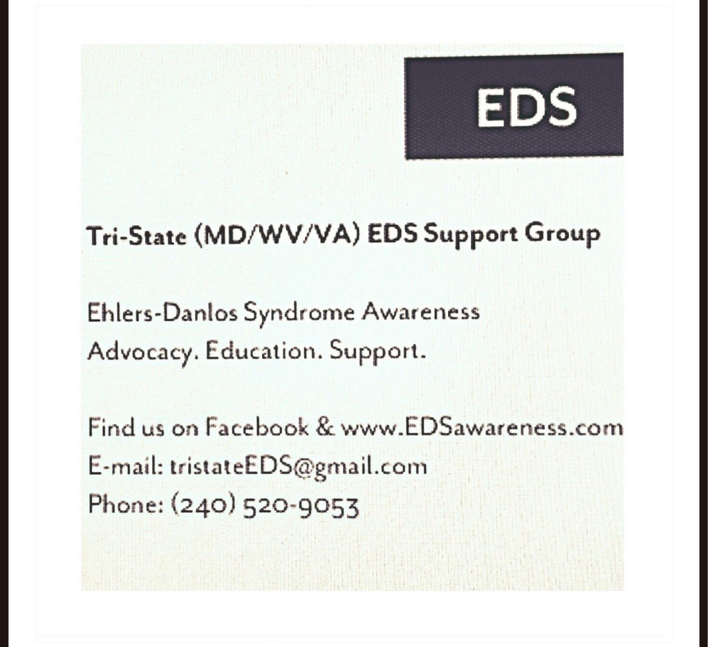 Tri-State (WVA, MD, VA) EDS Support Group Meeting in March!