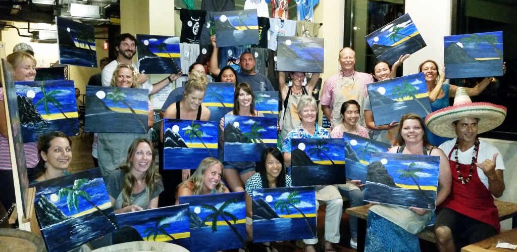 Brushstrokes and Brews Art Party - May 2015