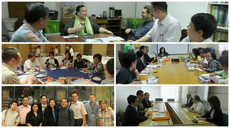 Meetings with the 3rd AAN Congress partners and supporters including (clockwise from top) ASP, DSWD, NCDA,   JICA-Philippines and SM Supermalls